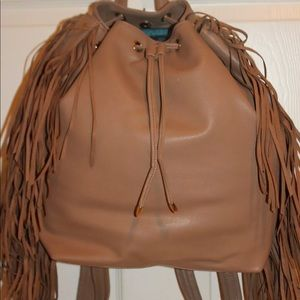 New! Deuce Lux Drawstring Fringe backpack